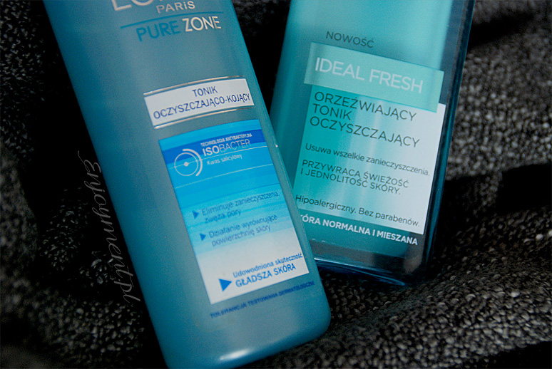 Loreal Pure ZONE oraz Loreal Ideal Fresh