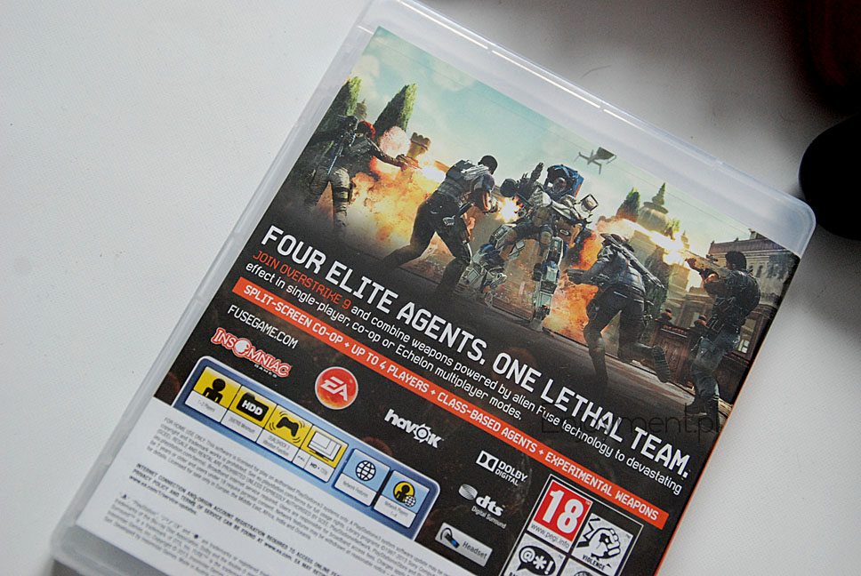 PS3-  FUSE na 2 osoby , recenzja FUSE