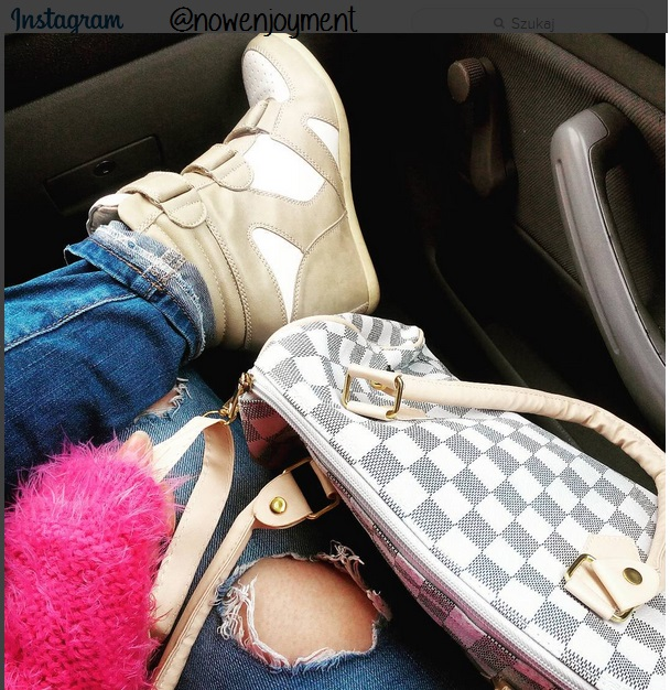 jesień, bershka, sneakers, sneakersy, lv, louis vouitton, outfit jesienny, hair, red lips, smoky eyes, autumn, tumblr, enjoyment, blog modowy, moda, polska blogerka, make up blog, fluffy, puchaty sweter, jesienna stylizacja zakupy, kyllis, serum, kwas hialuronowy serum, pease, pantene,